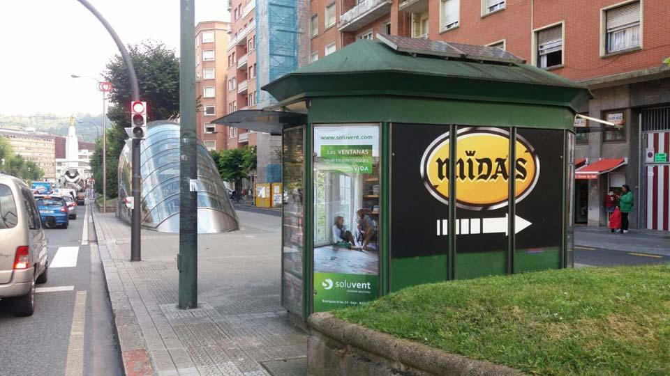 Campaña de publicidad en las calles de Bilbao