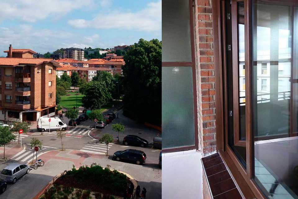 Cambio de ventanas en un piso en Getxo