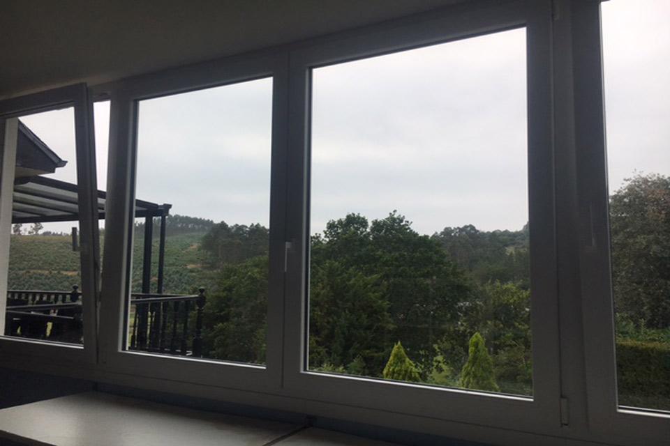 Cambio de ventanas en una vivienda en Plentzia